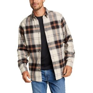 Eddie Bauer Flannel Relaxed Fit Plaid Shirt